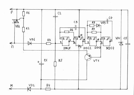 Простое автоматическое зарядное устройство  Мастер Винтик